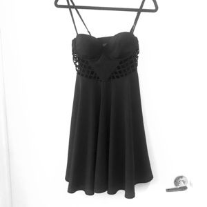 Guess little black dress, mini, strappy & cut outs
